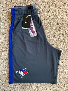 Brand New Authentic MLB Nike Toronto Blue Jays Baseball Men's Gray Shorts Medium