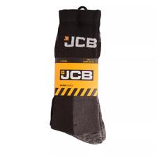 Men's JCB Construction/Work Socks Reinforced Heel/Toe UK 6-11, 3 PAIRS