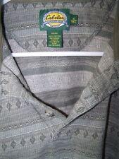Cabelas Men's Shirt - Pullover - Knit Cuffs and Collar -Jade Cotton -  SZ XL