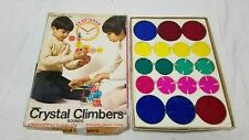 Vintage 1970's Crystal Climbers Rounds 32 Pc Set Pressman Light Table Building