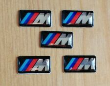 5 Pcs BMW M Power Performance Badge Sticker / Alloy Wheel, Steering Wheel, etc.