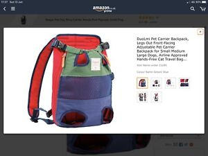 DuoLmi Pet Carrier Backpack, Legs Out Front-facing