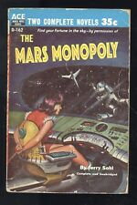 Ace Double D-162 Miller Man Who Lived Forever Sohl Mars Monopoly 1956 Sci-Fi GD-