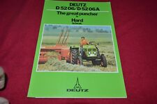 Deutz D 52 06 D 52 06A Tractor Dealer's Brochure YABE15