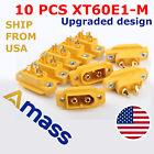 10 Pcs AMASS XT60E-M Mountable XT60 Male Plug Connector RC Models Multicopter