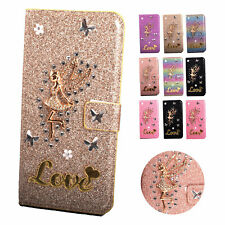 Leather Glitter Stand Wallet Case Cover For Samsung Galaxy A51 A71 A40 A50 M30