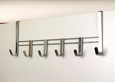 Metall Türgarderobe mit 6 Haken - Türhaken Garderobenleiste Tür Garderobe Leiste