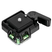 QR40 Camcorder Stativ Monopod Kugelkopf Schnellverschluss Platte Für DSL Kamera#
