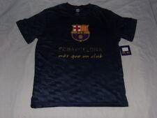 FC Barcelona Polyester Crest T-Shirt Men Large FCB Messi Mes Que Un Club La Liga