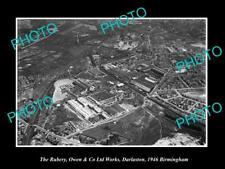 OLD LARGE HISTORIC PHOTO DARLASTON BIRMINGHAM ENGLAND THE RUBERY WORKS 1946