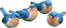 Set of 4 Different BLUE BIRD FIGURINES ***Free Shipping***
