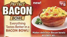 AUTH Perfect Bacon Bowl Set Of 2 Make EDIBLE BOWLS OUT OF BACON BREAD BOWLS TV
