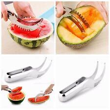 Edelstahl Watermelon Slicer Wassermelone Fruit Schneider Schäler Küchenhelfer
