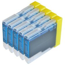 5x BROTHER LC1000 LC970 DCP 130C 330C 750CN MFC 240C 440C  blau cyan