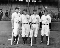 1936 New York Yankees JOE DIMAGGIO LOU GEHRIG BILL DICKEY Glossy 8x10 Photo