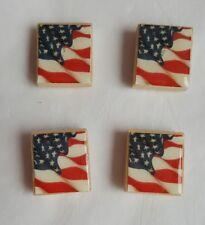 Set of 4 American Flag Magnets Scrabble Tile Magnets Americana Magnets Patriotic