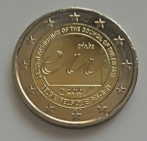 Belgique 2010 Présidence UE pièce de 2 euro commémorative neuve