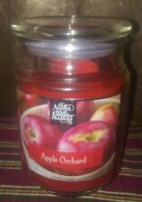 "Nicole's Home Accents ""Apple Orchard"" 18 oz Large Jar Candle,BN"