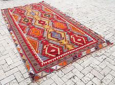 "Turkish Kilim Rug 66''x126"" Hand Woven Sivas Sharkısla Kilim 170x323cm"