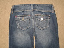 Guess Jeans Size 24 Destroyed Straight Leg Flap Pockets Womens Denim