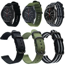 Unisex Infantry Military Army Fabric Buckle Nylon Wrist Watch Band Strap 20-24mm