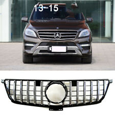 Front Bumper Grille Grill For Mercedes Benz W166 ML300 ML350 ML400 GTR 2012-2015