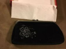 New Express Black Velvet Evening Bag Clutch