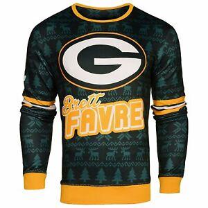 NFL Men's Green Bay Packers Brett Favre Retired Player Ugly Sweater