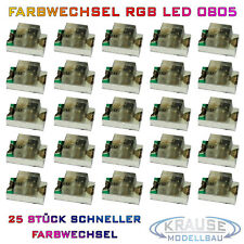 KM0103 25 Stück SMD LED 0805 rot mit Kupferlackdraht 0,15mm Modellbahn Modellbau