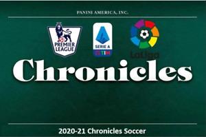 2020-21 Chronicles Soccer La Liga Premier League Serie A Base Cards & Parallels