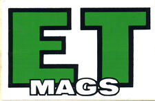Vtg Hot Rod Sticker ET Mags Drag Race Old Stock Speed Shop