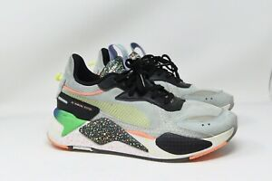 Puma RS-X Fourth Dimension Fair Aqua Ponderosa Pine Sneakers 36983801 Mens 7.5