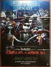 Affiche ETRANGE NOEL DE MONSIEUR JACK 3D Nightmare before Christmas TIM BURTON *