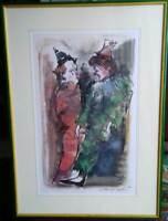 Sergio Manfredi (Torino 1932) stupendo acquerello AFFARE