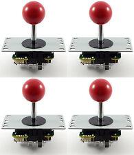 4 X Original Sanwa Jlf-tp-8yt bola superior Arcade Palancas De Mando, 4/8 forma (rojo) Mame Jamma