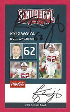 Kyle Wojta 2012 Senior Bowl Auto Wisconsin Badgers Signed Rookie Card Autograph