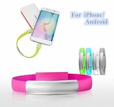 8 Pin/Micro USB To USB Cable Bracelet Charger Data Sync Cord For MEIZU Phone6 SX