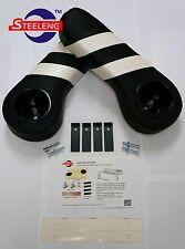 EZGO/Club Car/Yamaha Golf Cart Rear Seat Arm Rest Cup Holder Black-White S2