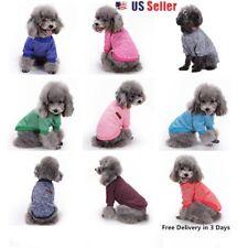 Small Pet Dog Puppy Cat Winter Sweater Coat Jacket Clothes Apparel Gray