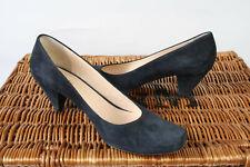 HOBBS Black Suede Court Shoes Size UK 7 EU 40