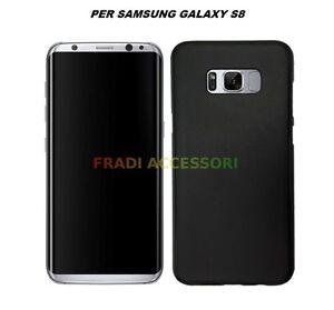 Cover custodia samsung galaxy S8 TPU ultra slim silicone nera morbida 0,3mm