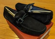 "$595 Mens Salvatore Ferragamo ""Front 4"" Leather Loafers Drivers Navy 13 E"