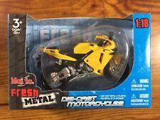 2007 Maisto HONDA CBR 600RR - Yellow -  1/18 Diecast Motorcycle