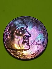 """New Listing2005 D Jefferson """"Bison"""" Nickel Rainbow Toned Coin"""