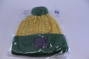 Cirque Mountain Apparel Iowa Corn Beanie Hat with Pom Green/Yellow/Orange