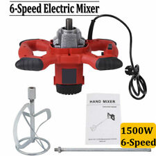 6-speed Electric Mortar Mixer For Stirring Paint Cement Grout Concrete 1500W
