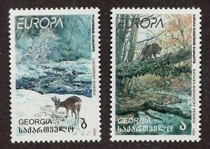 #210-11 - Georgia - Europa - Wildlife -  MNH  VF  superfleas  cv$5.50