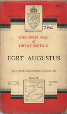 Fort Augustus Scotland Antique Map OS Sheet 36 Cloth 1 Inch 1954 Pub 1956