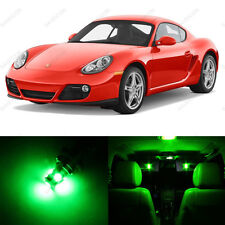 11 x Green LED Interior Light Package For 2006 - 2012 Porsche Cayman