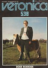 VERONICA 1974 nr. 10  -  ALICE COOPER / BOJOURA / BOER KOEKOEK (COVER) / REDWING